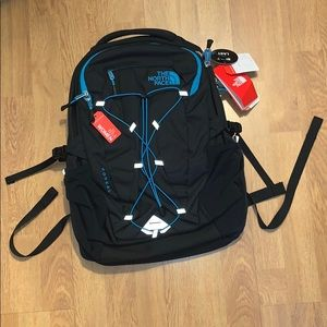 NWT The North Face Borealis Backpack, Black/ Blue